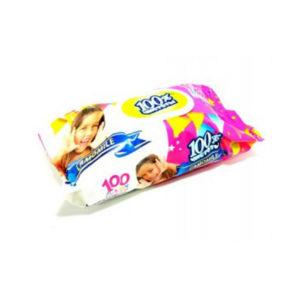 100% Чистоты Влажные салфетки с клапаном 100шт. с ароматом, для детей , «Camomile» (1/18) БЗ005009