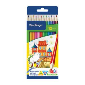 Карандаши акварельные цветные 12 цветов «BERLINGO» Сказочный город, арт. СР01712 заточенные, картонная упаковка, европодвес (2/12/240) БЗ005335