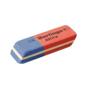 Ластик комбинированный, прямоугольный «Berlingo» Blitz, арт. Blc_00016, скошенный, натуральный каучук, 42х14х8мм (1/80) БЗ005450