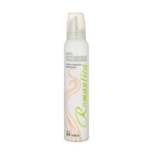 Мусс для волос «Романтика» с растительными экстрактами, 200мл/185гр., цвет балона: белый, 161409 (1/24) БЗ005462