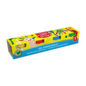 Краски пальчиковые 4 цвета «Erich Krause» Art Berry, ЕК 41751, 140г, с алоэ вера, в картонной упаковке, с 3 лет (1/5) БЗ005599