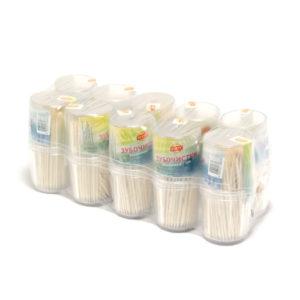 Зубочистки в пластиковом стакане, 190шт. «Party» арт.190, деревянные, березовые (10/50/500) БЗ005612