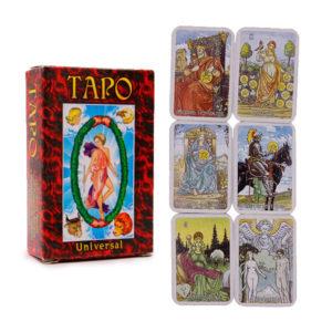 Карты гадальные Таро подарочные «Universal» красные,78 карт, 113х63мм (80) БЗ005805