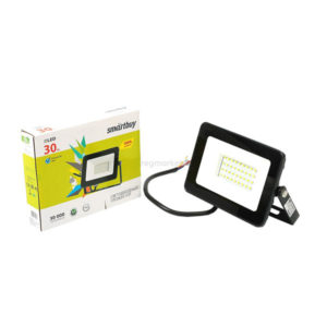 Светодиодный прожектор 30W/300Вт, 2400Lm, 4100К, холодный свет, 220В, пылевлагозащита IP65, чёрный SBL-FLSMD-30-65K, 225х185х85мм БЗ005916