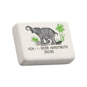 Ластик бежевый прямоугольный «Koh-I-Noor» Elephant, арт. 0300080018KD RU, 26х18х8мм (1/80) БЗ006207