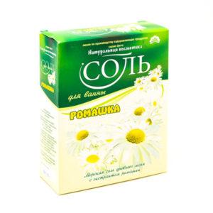 Соль для ванн «Натуральная косметика», Ромашка, 550 г., в коробке (1/20) БЗ006292