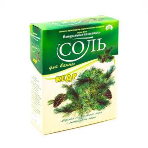Соль для ванн «Натуральная косметика», Кедр, 550 г., в коробке (1/20) БЗ006293