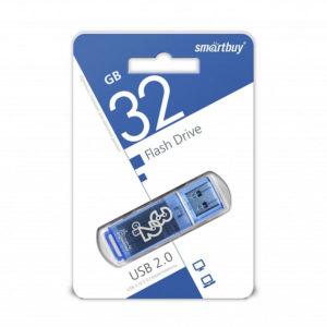 USB 2.0 флеш-накопитель 32Gb Smartbuy Clossy Series синяя,колпачек,58х19мм [SB32GBGS-DВ] БЗ006301