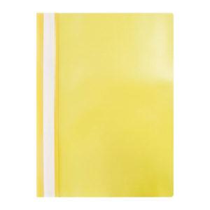 Папка-скоросшиватель пластик. «OfficeSpace», А4, 120мкм, арт.Fms16-2_11688, желтая с прозрачным верхом (1/20/240) БЗ006427