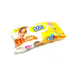 100% Чистоты Влажные салфетки с клапаном 100шт. с ароматом, для детей , «Aloe Vera» (1/18) БЗ006491