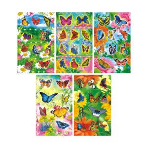 Наклейки 08 шт. «Бабочки» на листе, 16 x 9.5 x 0.1 см. (1/20) БЗ006682