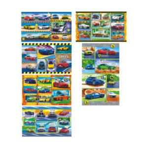 Наклейки 11 шт. «Авто» на листе, 16 x 9.5 x 0.1 см. (1/20) БЗ006683