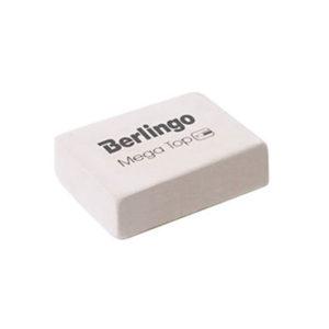 Ластик белый прямоугольный «Berlingo» Mega Top, арт. BLc_00014, 26х18х8мм (1/80) БЗ006684