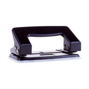 Дырокол 10 листов, шаг 80мм,d 6мм, OfficeSpace», металлтческий, черный (2/12/240) БЗ006689