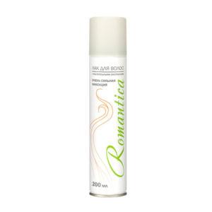 Лак для волос «Романтика» с растительными экстрактами, 200мл/130гр., цвет балона: белый  (1/24) БЗ006709