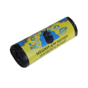 Крепакоф мешки в РУЛОНЕ для мусора 30л/30шт,9мк.,черный,480х620мм (50) БЗ006716