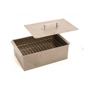 Коптильня для горячего копчения двухярусная «Фиеста», 340x275x210 мм., объем 15 л.,лист стальной х/к ст8 пс/кп, в картонной коробке (1) БЗ006877