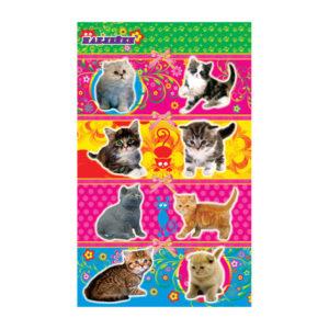 Наклейки 11 шт. «Кошки» на листе, 16 x 9.5 x 0.1 см. (1/20) БЗ006921