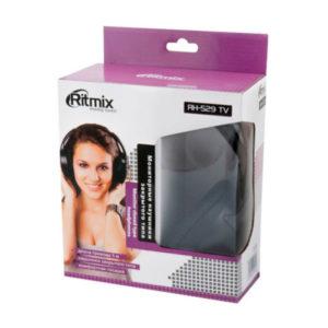 Наушники полн. «Ritmix» RH-529TV, цвет: чёрный, шнур 5.0м, Jack 3-5мм, в коробке (1/12) БЗ007029