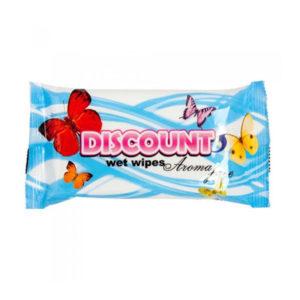 Discount Влаж. салфетки 15шт. без запаха «Aroma free» (1/110) БЗ007049