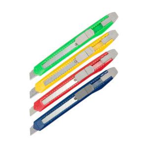 Нож канцелярский (пистолетный) с сигментированным лезвием 09мм «OfficeSpace» Арт.178793(CUT9_1364), пластиковый, в пакете (1/30) БЗ007080