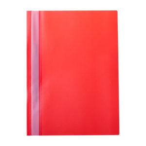 Папка-скоросшиватель пластик. «OfficeSpace», А4, 160мкм, арт.Fms16-4_717, красная с прозрачным верхом (1/10) БЗ007130