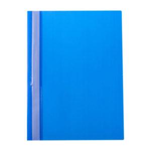 Папка-скоросшиватель пластик. «OfficeSpace», А4, 160мкм, арт.Fms16-5_718, синяя с прозрачным верхом (1/10) БЗ007132