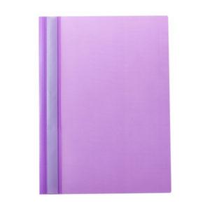 Папка-скоросшиватель пластик. «OfficeSpace», А4, 160мкм, арт.Fms16-6_719, фиолетовая с прозрачным верхом (1/10) БЗ007133