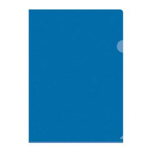 Папка-уголок  А4, OfficeSpace, 100мкм, прозрачная, цвет синий, арт. Fmu15-11_882 (20) БЗ007134