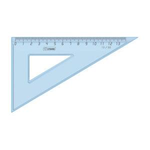 Угольник пластиковый 13см 30*, Стамм, прозрачный, цвет голубой, арт.ТК400 (1/48) БЗ007152
