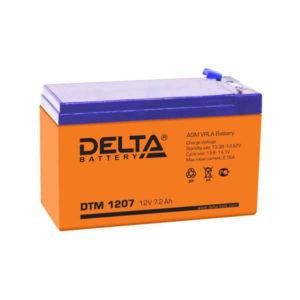 Аккумулятор Delta DTM 1207, 12V, 7.0Ah, для фонарей, охранно-пожарных систем  151х65х100мм, (1/20) БЗ007303