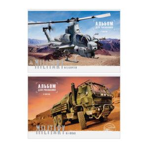 Альбом для рисования 08л. А4 «ArtSpace» Техника.Military, на скрепке, арт.А08ф_14184 (1/16) БЗ007319