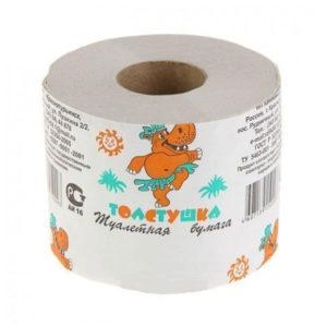 Туалетная бумага со втулкой однослойная «Толстушка» 100 метров,150гр (18) БЗ007325
