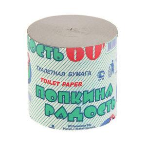 Туалетная бумага без втулки однослойная  «Попкина Радость» 60 метров, 100гр. (32) БЗ007327