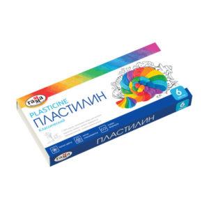 Пластилин в наборе 06 цветов «Гамма» классический, 120гр. арт.281030, в картонной коробке (1/30) БЗ007376