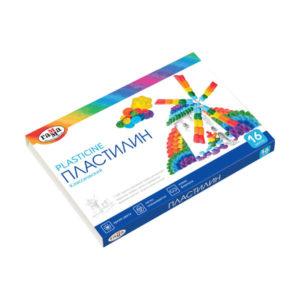 Пластилин в наборе 16 цветов «Гамма» классический, 320гр. арт.281034, в картонной коробке (1/10) БЗ007379
