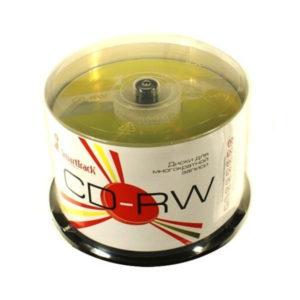 Диск для многократной записи CD-RW SmartTrack 12x/700MB/80min 50шт. на шпиле, в пластиковом кейсе (1/12) БЗ007548