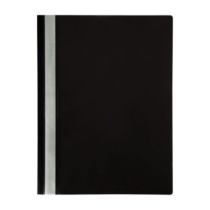 Папка-скоросшиватель пластик. «OfficeSpace», А4, 120мкм, арт.Fms16-9_11695, черная с прозрачным верхом (1/20/240) БЗ007602