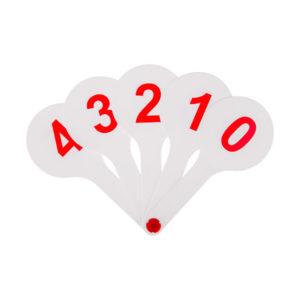 Веер-касса цифры от 0 до 9 «ArtSpace», арт.ВК_10167/ВК10, европодвес (1/1) БЗ007746