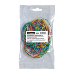Резиновые колечки для денег 60мм по 50гр. в упаковке, цвет микс,»OfficeSpace», арт.RB_9287 (1/5) БЗ007783