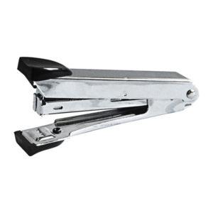 Степлер «OfficeSpace» скоба 10, на 10 листов, металлический корпус, хромированный, черный, арт. 232639 (1/6) БЗ007818