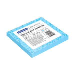 Самоклеящийся блок цвет голубой 75х75 мм, «ArtSpace» 100 листов (1/12/186) БЗ007826