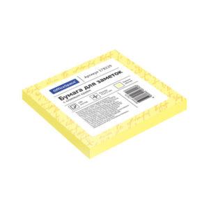 Самоклеящийся блок цвет желтый 75х75 мм, «ArtSpace» 100 листов (1/12/186) БЗ007827
