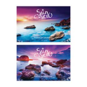 Альбом для рисования 12л. А4 «ArtSpace» Пейзаж. Sun&Sea, на скрепке, арт.А12_9037 (1/12) БЗ007839