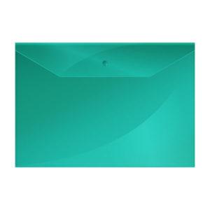 Папка-конверт на кнопке А4, «OfficeSpace», 150мкм, арт.220895, зеленая (10/40/100) БЗ007903