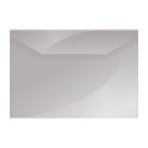 Папка-конверт на кнопке А4, «OfficeSpace», 150мкм, арт.220893, прозрачная (10/40/100) БЗ007904