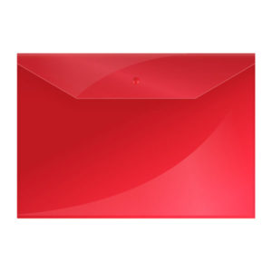 Папка-конверт на кнопке А4, «OfficeSpace», 150мкм, арт.220896, красная (10/40/100) БЗ007924