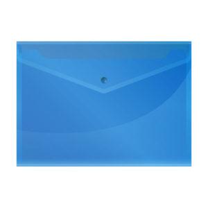 Папка-конверт на кнопке А4, «OfficeSpace», 150мкм, арт.220897, синяя (10/40/100) БЗ007925