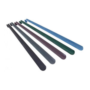 Ложка для обуви металлическая с крюком  «Solomon» DeLuxe, 65см, 650х40х1.2мм 6цветов (10/30) БЗ007978