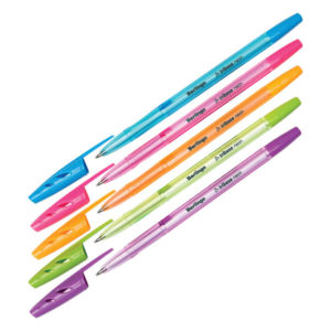 Ручка шариковая на масляной основе «Berlingo» Tribase Neon, арт. СВр_70932, стержень синий, 0.7мм, игольчатый стержень, корпус ассорти (50/2000) БЗ008045